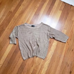 Sweaters - Brown and gold sweater